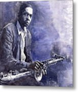 Jazz Saxophonist John Coltrane 03 Metal Print by Yuriy  Shevchuk