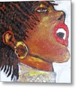 Jazz Singer Jade Metal Print by Samuel Banks