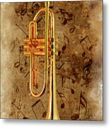 Jazz Trumpet Metal Print