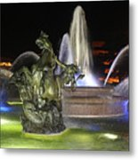 J.c. Nichols Fountain-4981 Metal Print