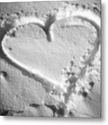 Winter Heart Metal Print
