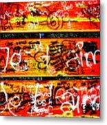 Je T'aime Love Bench Metal Print