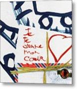 Je Te Donne Mon Coeur Metal Print