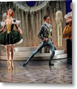 Jealous Stepsister Ballerinas En Pointe With Guests At The Ball  Metal Print