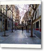 Jean Beauvais Paris Couple Walking Metal Print