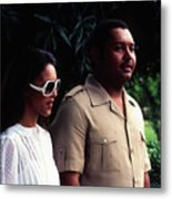Jean-claude Duvalier And Michelle Bennett Metal Print