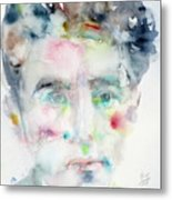 Jean Cocteau - Watercolor Portrait.2 Metal Print