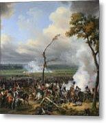 Jean Horace Vernet   The Battle Of Hanau Metal Print