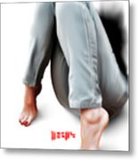 Jeans And Toes Metal Print