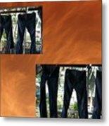 Jeans R Flying Metal Print