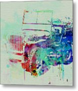 Jeep Willis Metal Print by Naxart Studio