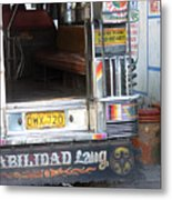 Jeepney Kid Metal Print