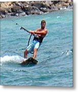 Jeff Kite Surfer Metal Print