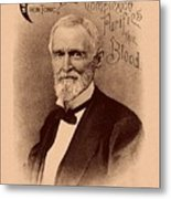 Jefferson Davis Vintage Advertisement Metal Print