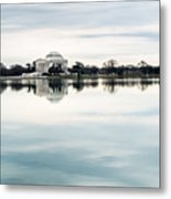 Jefferson Memorial And Tidal Basin Metal Print