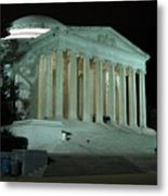 Jefferson Memorial At Night Metal Print