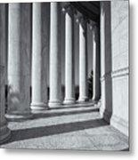 Jefferson Memorial Columns And Shadows Metal Print