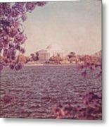 Jefferson Memorial During Spring Metal Print