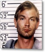 Jeffrey Dahmer Mug Shot 1991 Square  Metal Print