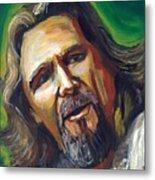 Jeffrey Lebowski The Dude Metal Print