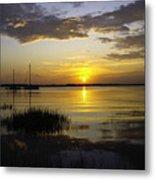 Jekyll Island Sunset Metal Print
