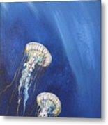 Jellyfish In Unison Metal Print