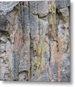 Jenn Krogue Climbs A Route Called Thin Slice Which Is Rated 5.10 Metal Print