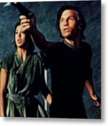 Jenny Agutter And Michael York, Logan's Run Metal Print