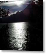 Jenny Lake And The Grand Tetons At Twilight Metal Print