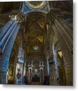Jerez De La Frontera Cathedral Dome From Inside Cadiz Spain Metal Print