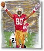 Jerry Rice The Greatest Metal Print
