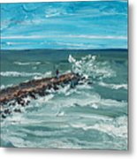 Jersey Jetty Metal Print