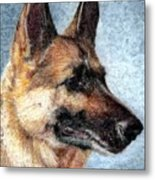 Jersey The German Shepherd Metal Print by Melissa J Szymanski
