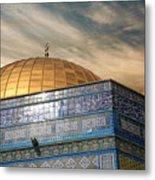 Jerusalem - Dome Of The Rock Sky Metal Print