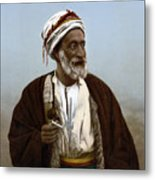 Jerusalem - Sheik Of Palestinian Village Metal Print