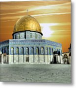 Jerusalem - The Light Metal Print
