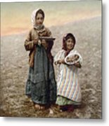 Jerusalem Girls, C1900 Metal Print