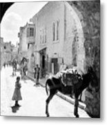 Jerusalem Street In 1914 Metal Print