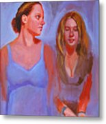 Jessica And Kate Metal Print
