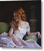 Jessica Daydreaming Metal Print by Jean Hildebrant