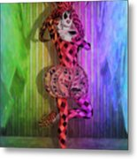 Jester Rainbow Girl  Metal Print