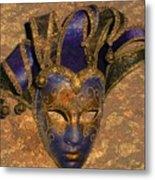 Jester's Mask Metal Print