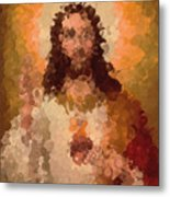 Jesus Abstract Metal Print