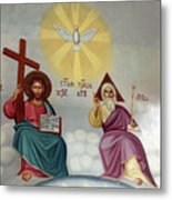Jesus And Abraham Metal Print