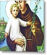Jesus And Saint Anthony Metal Print