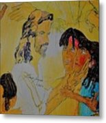 Jesus And The Children Metal Print