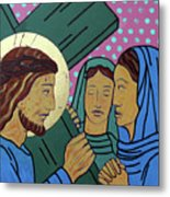 Jesus And The Women Of Jerusalem Metal Print