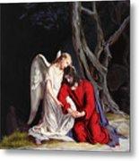 Jesus At Gethsemane Metal Print by Rebecca Poole