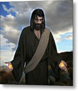 Jesus Christ- And He Withdrew Himself Into The Wilderness And Prayed Metal Print
