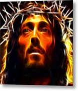 Jesus Christ The Savior Metal Print